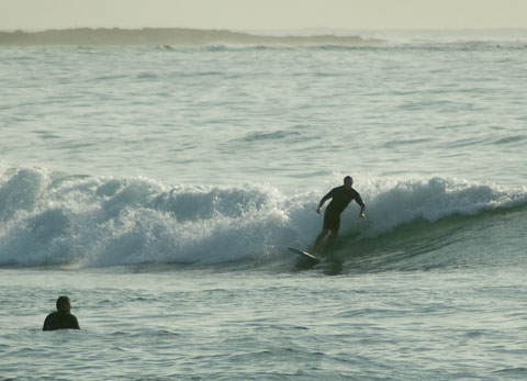 Weaker, smaller at Dee Why beach and not as good as elsewhere this morning.