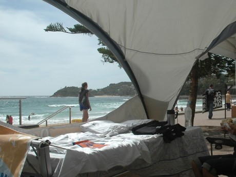 the view from RealSurf-Surfrider's tent