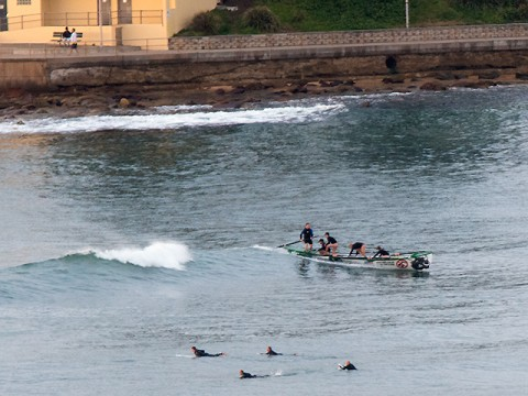 Surfboat practice dee why
